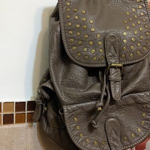 Under One Sky Dusty colored leather backpa…
